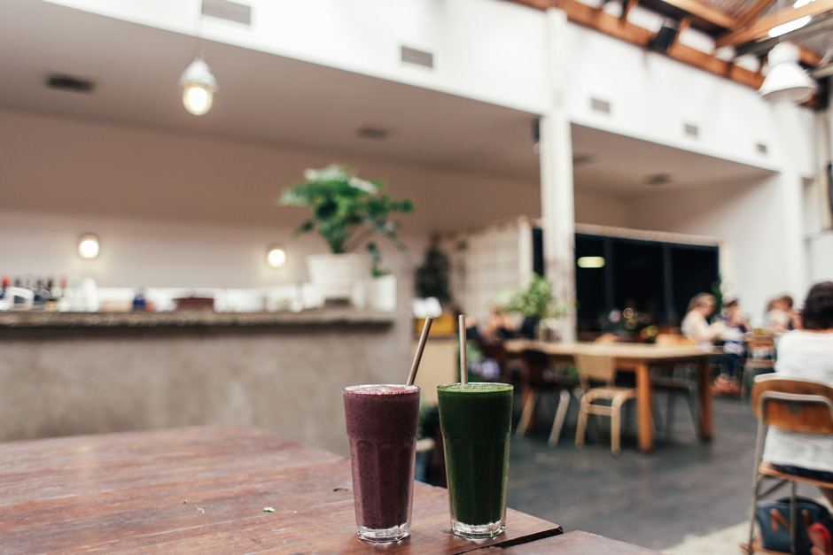 Smoothies on Table